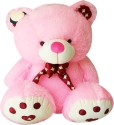 A Smile Toys & More Bow Teddy  - 20 Inch - Pink