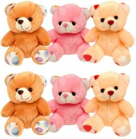 Mydressmystyle Cute Teddy Bear Set Of 6  - 20 Cm (Multicolor)