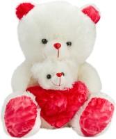 Glitters Glitters Cute MB -White-Pink Teddy  - 21 Inch (White, Pink)