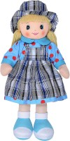 Dimpy Stuff Soft Doll With Checks Cap And Checks Skirt - 19.68 Inch (Multicolor)