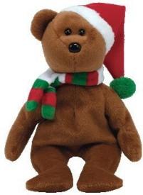 Ty Beanie Babies 2008 Holiday Teddy Santa Hat