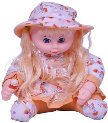 Esoft Soft Toys Esoft Long Hair Doll with Ice Cream 9.2 inch