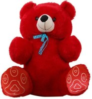 THE E BAZAAR Jumbo Teddy Bear  - 34 Inch (Red)
