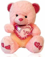 Grabadeal Teddy Bear With Only You Heart - 18 Inch (Pink)