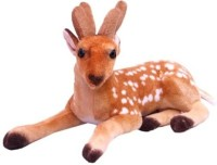 PIST Soft Toys Brown Deer Soft Toy  - 32 Cm (Brown)