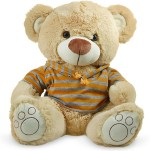 Archies Soft Toys Archies Teddy With Brown Hoodie 15.7 inch