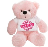 Grabadeal Special Best Sister 2 Feet Pink Big T-shirt Teddy Bear - 24 Inch (Pink)