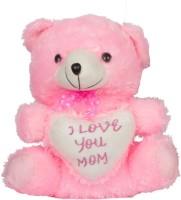 Aarip I Love You Mom Teddy Bear  - 15 Inch (Pink)