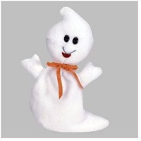 Ty Beanie Babies Spooky Ghost (White)