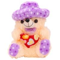 Arihant Online Purple Mushy Teddy Bear  - 11 Inch (Purple)