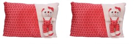 Esoft Combo of 2 Linea Pillow with Teddy 40cm  - 6 Inch