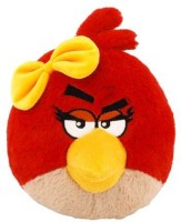 Angry Birds Plush 5Inch Girl Red Bird With Sound (Red)