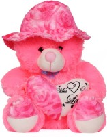 Unica Giant Pink Stuffed Teddy Bear Cute Plush Soft Toys For Kids  - 40 Cm (Pink)