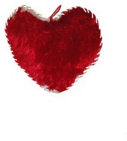 Shree Krishna Heart Cushion  - 10 Inch (Red, White)