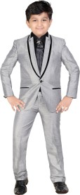 Kute Kids Coat Suit Self Design Baby Boy's Suit