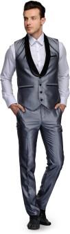 Platinum Studio Waistcoat And Trouser Set Solid Men's Suit - SUIE7NJVDATSGAB7