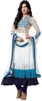 Aditya Creation Georgette Embroidered Semi-stitched Salwar Suit Dupatta Material Semi-stitched