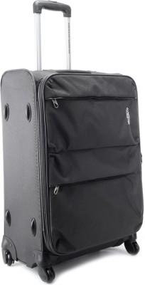 Compare American Tourister Velocity Expandable Check-in Luggage - 26.4 inch Dark Grey at Compare Hatke