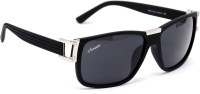 Amaze Medium Black Oval Sunglasses