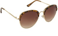 Danny Daze D-2810-C2 Oval Sunglasses Brown