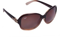 Floyd Retro Oval Sunglasses Brown