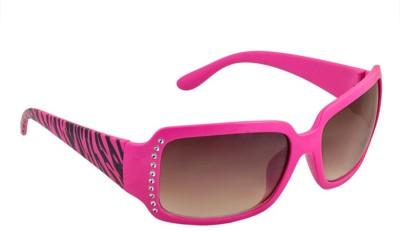 Good Look Goodlook Rectangular Sunglasses (Brown)