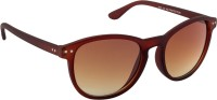 Irayz Oval Sunglasses Brown
