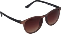 Gansta GN-11066 Brown Oval Oval Sunglasses