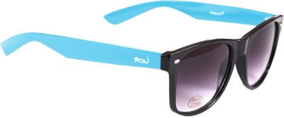 Elligator Elligator Blue Black ESWAF001 Wayfarer Sunglasses
