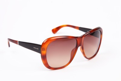 Police Police Over-Sized Sunglasses (Brown)