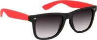 Cristiano Ronnie Matt. Black With Red Side Wayfarer Sunglasses