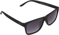 Panache Matte Black Frame-Grey Gradient Polarised Lens Wayfarer Sunglasses