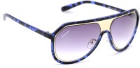 Amaze Medium Blue Oval Sunglasses