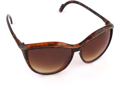 Cat Vast Designer Polycarbonet Womens Sunglasses Cat-Eye Sunglasses (Brown)