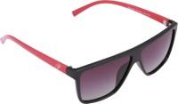 Panache Black-Red Frame-Violet Gradient Polarised Lens Wayfarer Sunglasses