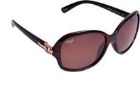 Floyd Retro Oval Sunglasses Brown