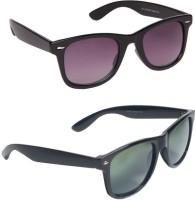 Spiky Classic Combo Wayfarer Sunglasses Grey, Brown