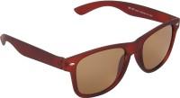 Irayz Wayfarer Matte Brown Wayfarer Sunglasses