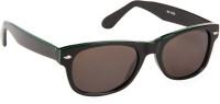 Cristiano Ronnie Black & Green Wayfarer Sunglasses Grey