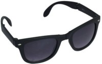 Affaires Black Folding A-306 Wayfarer Sunglasses