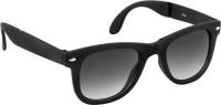 Shoaga Full Black Glass Folding Frame Wayfarer Sunglasses
