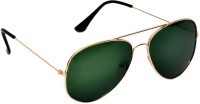 Ausum For Men & Women With Uv Protection -Green Aviator Sunglasses