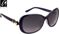 Aislin Premium Glance Over-sized Sunglasses Blue, Black