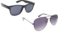 Sellebrity Elegant Combo Classic Black Aviator With Wayfare Black Sunglasses Aviator Sunglasses Black