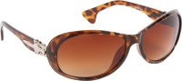 Abster Women's Oval Sunglasses Brown