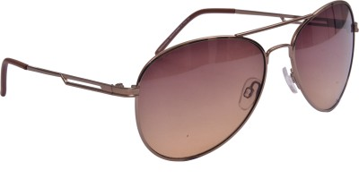 Aviator Romeo Safari Aviator Sunglasses (Brown)