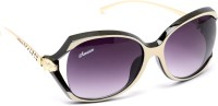Amaze Medium Violet Oval Sunglasses