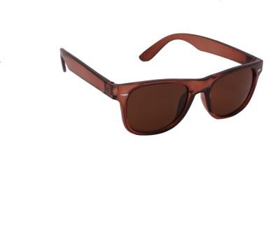 online shopping sunglasses n2k8  Spiky Spiky Stylish Wayfarer Sunglasses Brown