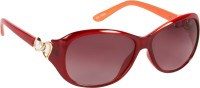 Cristiano Ronnie Orange With Gradient Lenses Oval Sunglasses Brown