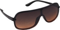 QWERTY Oval Sunglasses Brown